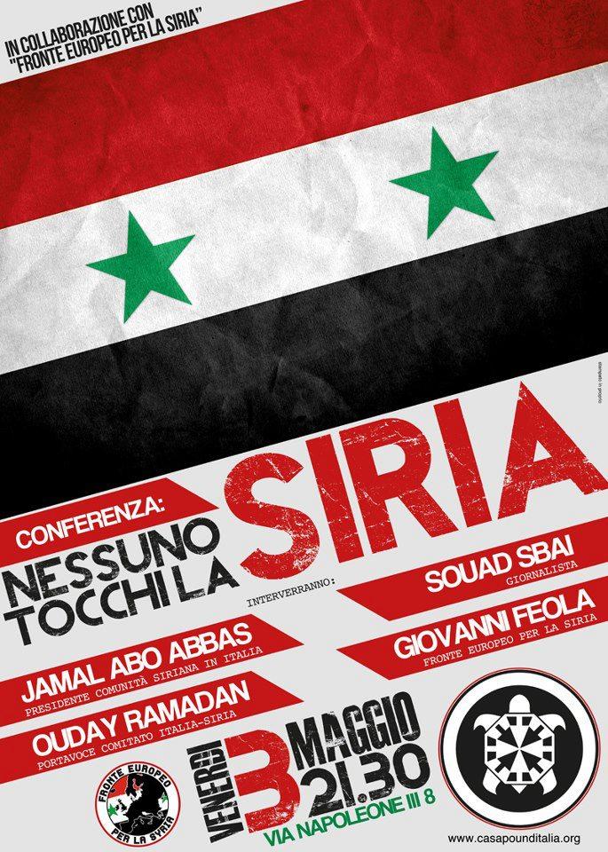 Nessuno tocchi la Siria !