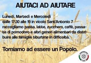 Distribuzione gratuita di generi alimentari a famiglie in difficoltà in Lazio, Abruzzo, Calabria e Umbria
