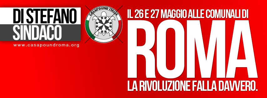Comunali: CasaPound apre la campagna elettorale, festa di piazza all'Esquilino nel giorno del natale di Roma