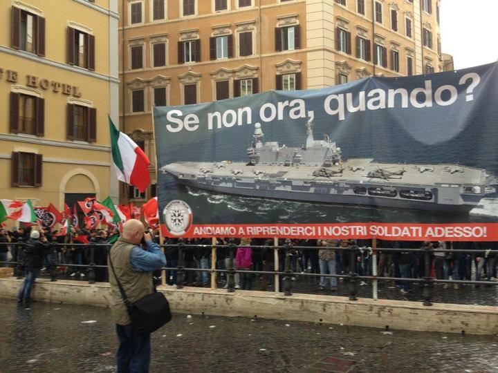 Caso marò: continua la mobilitazione di CasaPound Italia, domani in piazza a Bolzano, Sassari e Ascoli Piceno
