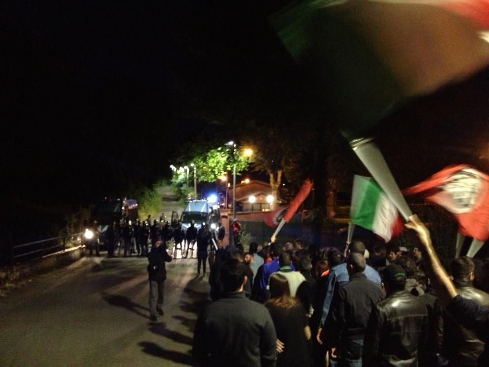Roma: CasaPound protesta sotto gli studi de La7
