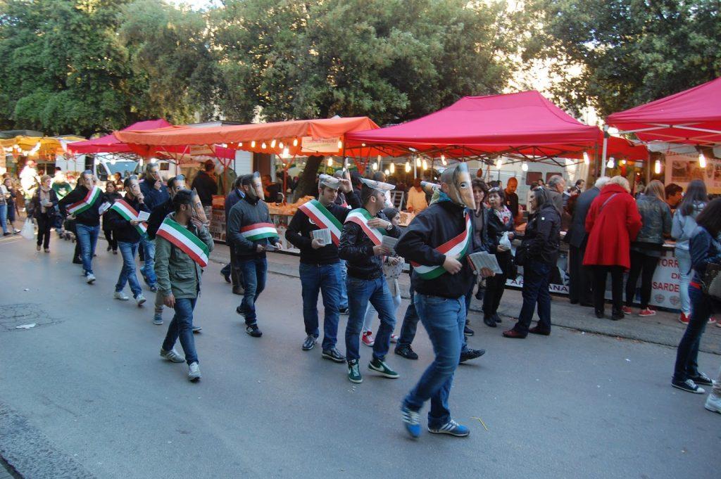 Sassari: Flash Mob di CasaPound contro le promesse non mantenute dal Sindaco