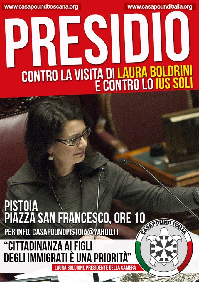 Presidio di CPI contro visita Boldrini a Pistoia e Ius Soli