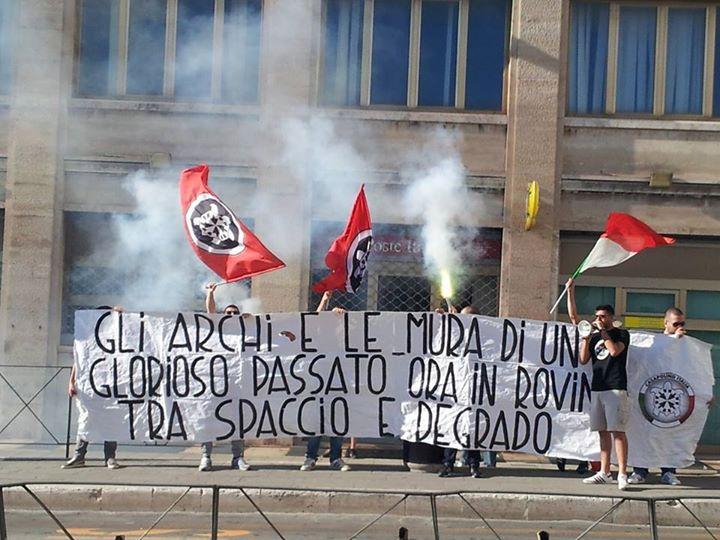 Perugia, CasaPound di nuovo in piazza contro il degrado