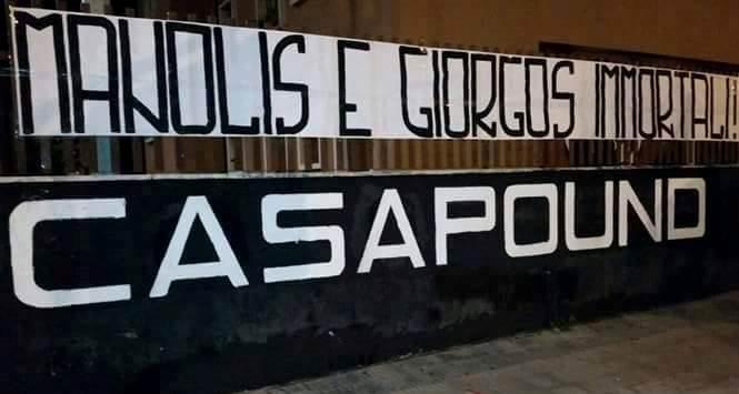 Grecia: CasaPound ricorda 'Manolis e Giorgos Immortali', striscioni in cento città e delegazione a commemorazione Atene