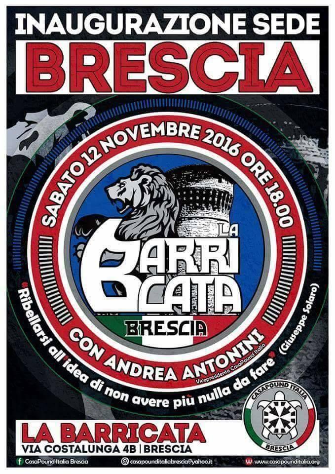 Inaugurazione sede di CasaPound a Brescia