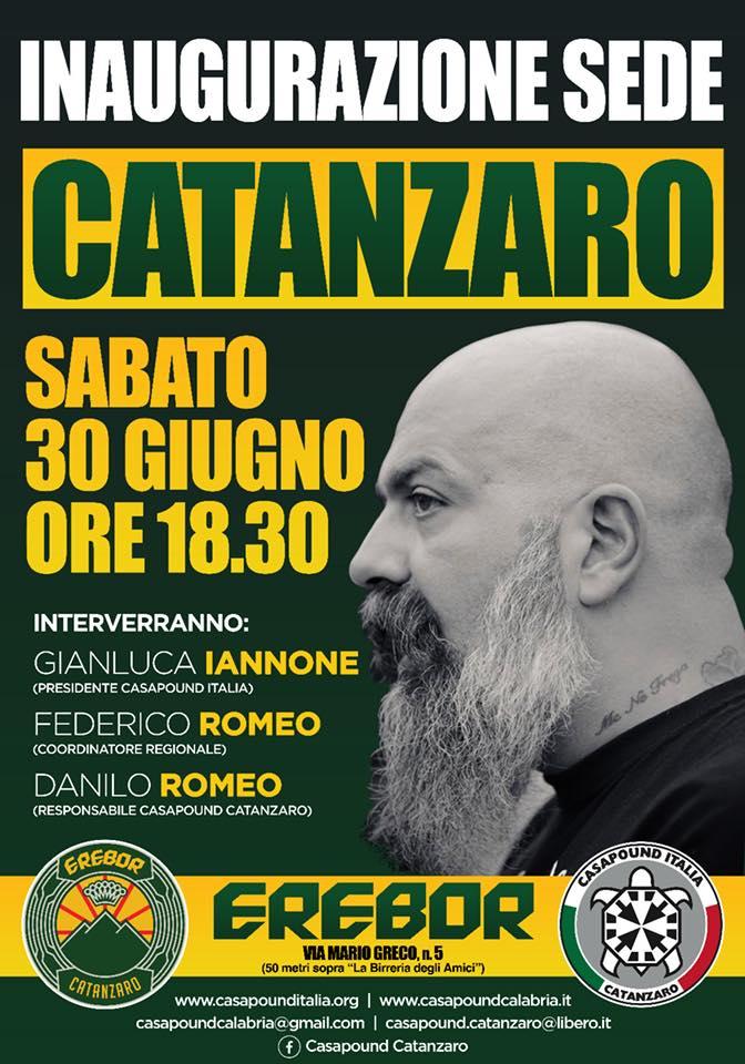 Inaugurazione sede di CasaPound a Catanzaro con Gianluca Iannone