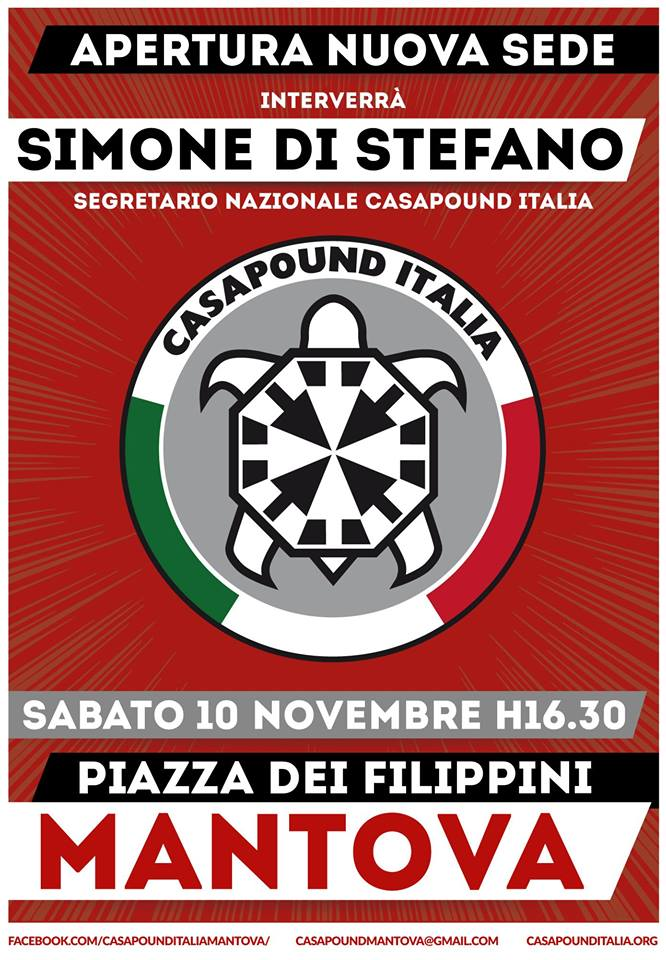 Inaugurazione sedi di CasaPound a Mantova, Vittorio Veneto (TV), Legnano (MI), Colleferro (RM), Cisterna di Latina (LT) e Alatri (FR)