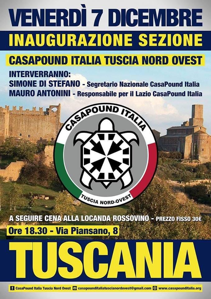 Inaugurazione sedi di CasaPound a Tuscania (VT), Siracusa, Noto (SR) e Pontedera (PI)