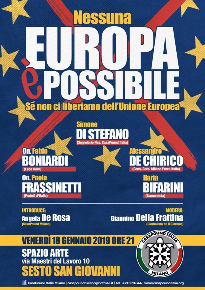 Convegno 'Nessuna Europa è possibile (se non ci liberiamo dell'UE)'