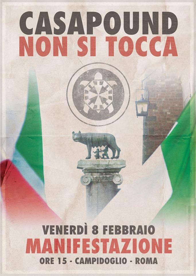 Roma, CasaPound: venerdì manifestazione in Campidoglio contro Raggi