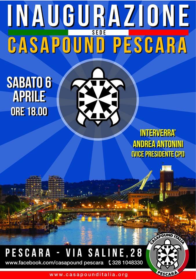 Inaugurazione sedi CasaPound a Pescara, L'Aquila, Cagliari, Castiglion Fiorentino (AR) e Montelibretti (RM)