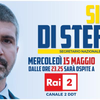 Europee: Simone Di Stefano ospite a Rai 2