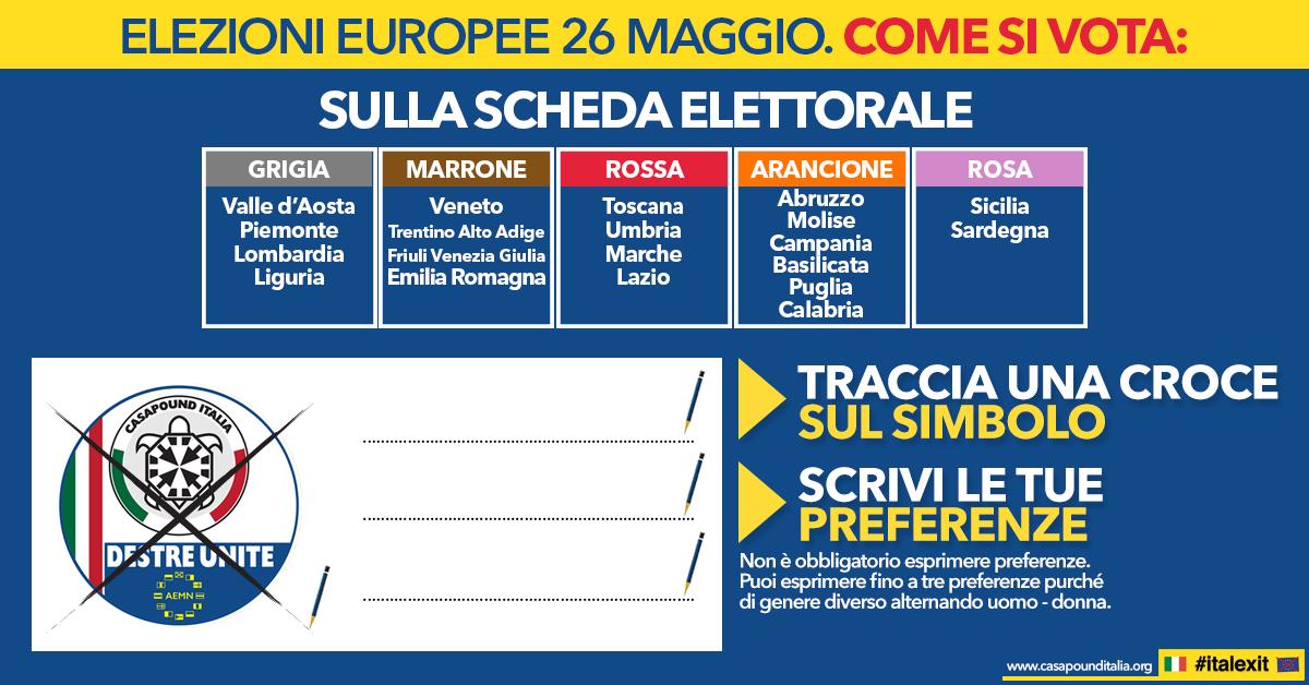Elezioni Europee 26 maggio. Come si vota.