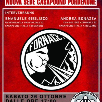 """Pordenone: CasaPound Italia inaugurerà il nuovo avamposto cittadino """"La Fornace"""""""