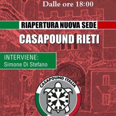 Inaugurazione sede di Rieti con Simone Di Stefano