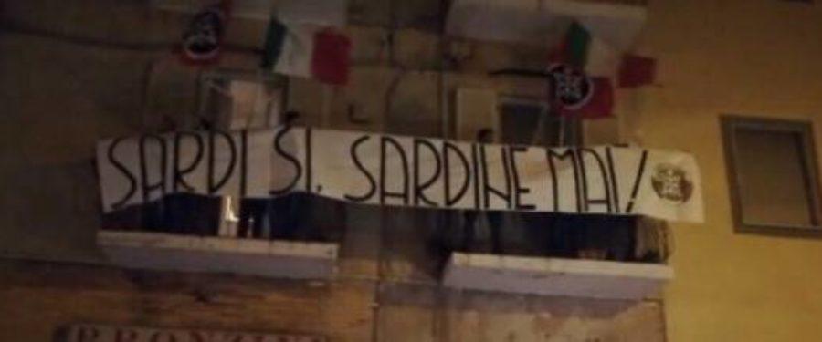 Sardine, l'azione goliardica di CasaPound a Sassari