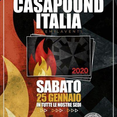 """CasaPound, al via il 25 gennaio in tutta Italia le """"feste del tesseramento"""""""