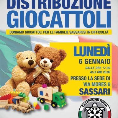 Sassari, distribuzione giocattoli