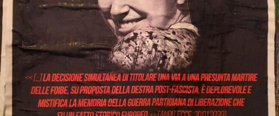"""CasaPound contro Anpi: """"Negano le foibe e il martirio di Norma Cossetto. Ora basta""""."""