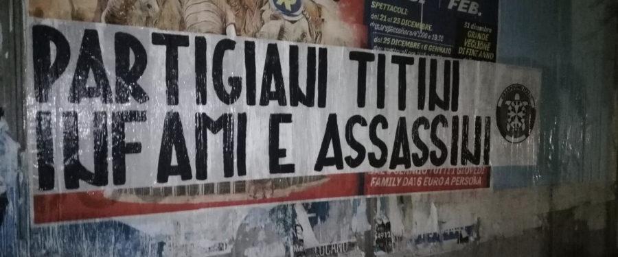 Giorno del Ricordo, striscioni di CasaPound in tutta Italia contro 'revisionismo e negazionismo' della tragedia delle foibe