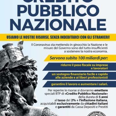 Credito Pubblico Nazionale: la nuova proposta di CasaPound che rovescia il concetto di debito pubblico