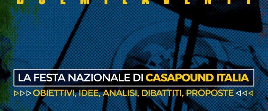 Festa nazionale 2020 di CasaPound Italia in Toscana dal 3 al 6 settembre