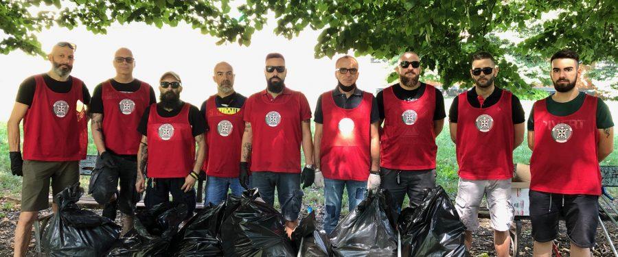 Torino, CasaPound riqualifica giardini in Borgo Vittoria