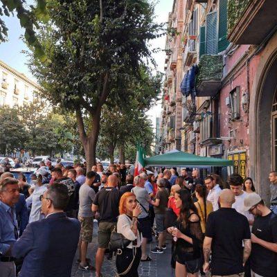 Napoli, CasaPound ha festeggiato l'acquisto della storica 'Sezione Berta'