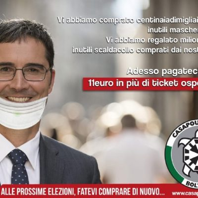Aumento ticket ospedaliero: campagna shock di Cpi contro Provincia di Bolzano