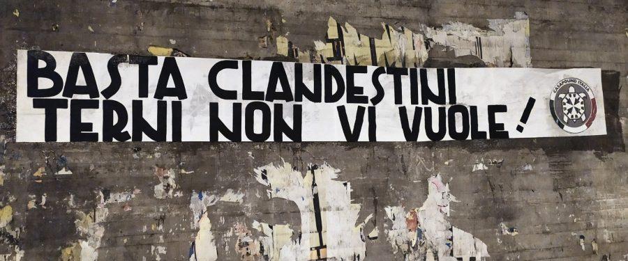 CasaPound insorge contro l'arrivo di nuovi clandestini a Terni