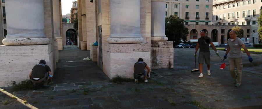 Genova, CasaPound riqualifica l'Arco della Vittoria