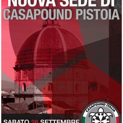 Inaugurazione della nuova sede di CasaPound in centro storico a Pistoia