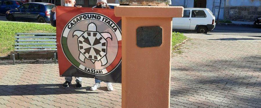 CasaPound riqualifica il monumento del pittore sassarese Giuseppe Biasi