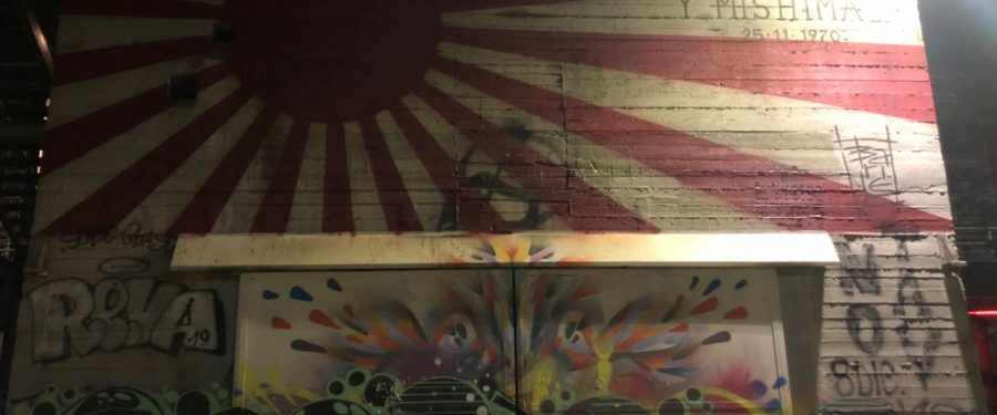 Mishima, striscione di CasaPound a 'difesa' del murales