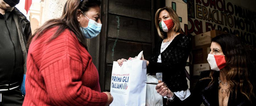 CasaPound Italia: al via campagna di distribuzione straordinaria di aiuti alimentari a sostegno delle famiglie italiane