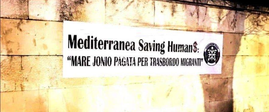 Mare Jonio, protesta di CasaPound contro business sbarchi in Sicilia