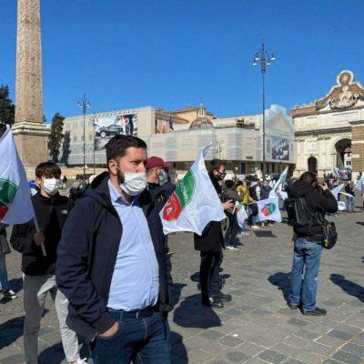 Roma, CasaPound stamattina di nuovo in piazza con partite iva e lavoratori autonomi