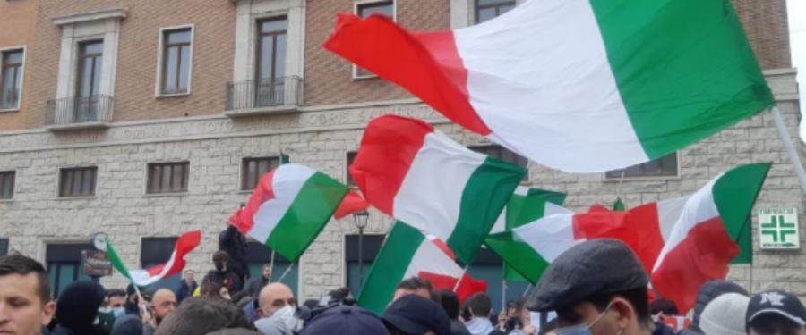 Conferenza stampa di CasaPound a Montecitorio sulle manifestazioni con IoApro