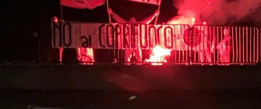 """L'Aquila, azione notturna di CasaPound: """"No al coprifuoco!"""""""