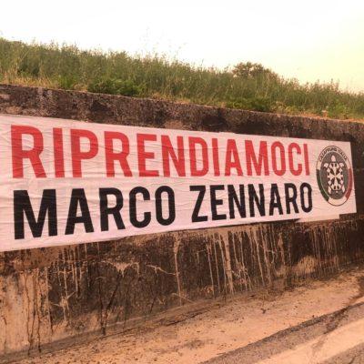 CasaPound, caso Zennaro – Striscioni affissi in più di 100 città italiane per richiedere la liberazione dell'imprenditore