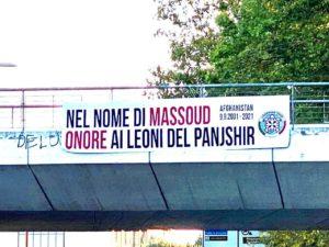CasaPound: striscioni in tutta Italia per onorare i combattenti afghani del Panjshir nel nome di Massoud